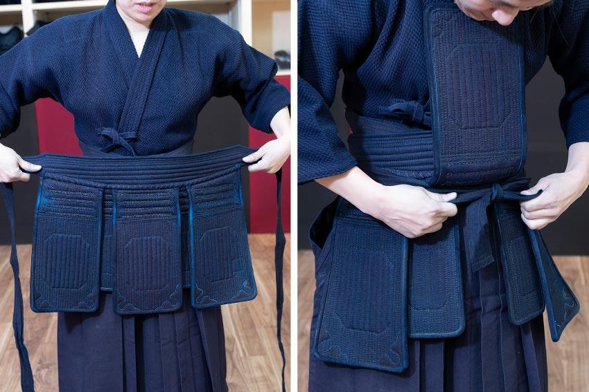 岡山市 剣道 武道具さかい 防具 垂 垂の正しいつけ方